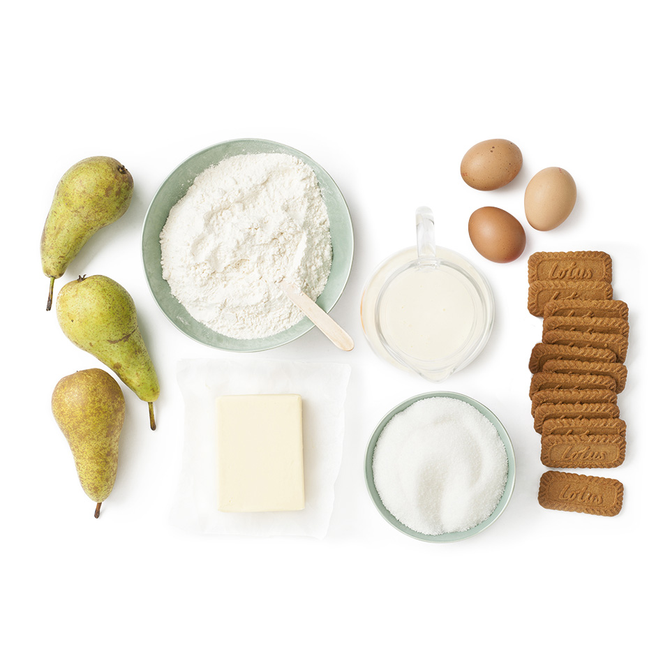 ingredients tarte aux poires et biscuit original Speculoos Lotus